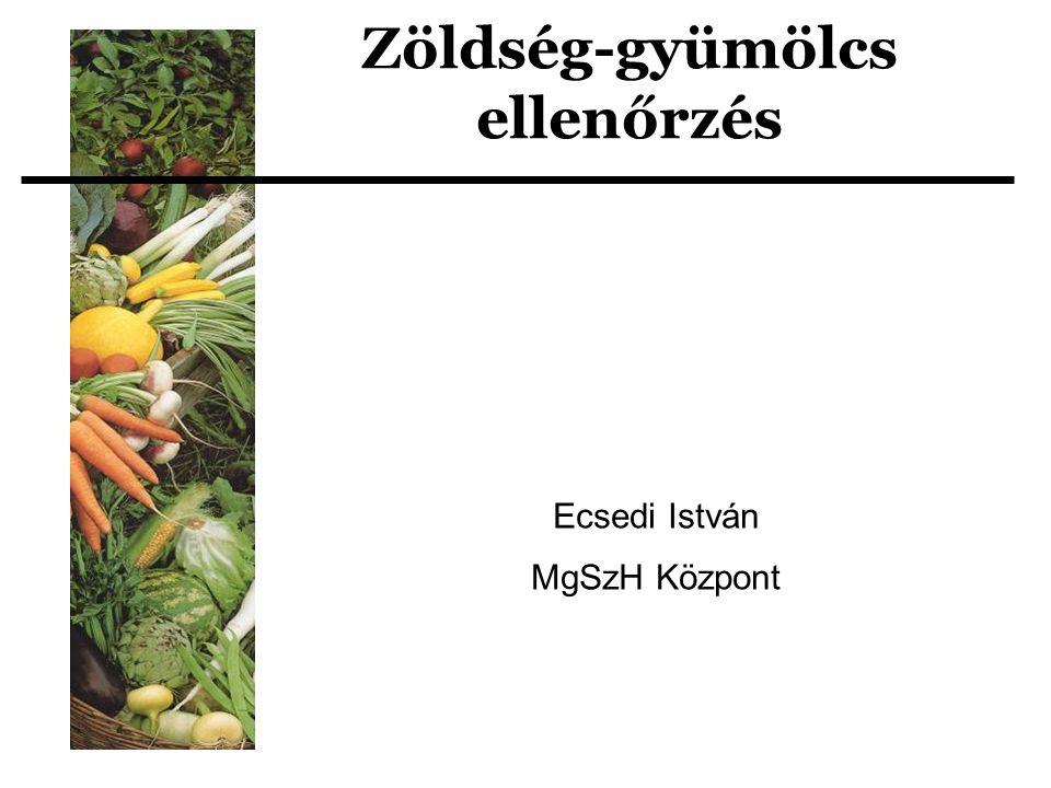 Zöldség-gyümölcs ellenőrzés Ecsedi István MgSzH Központ