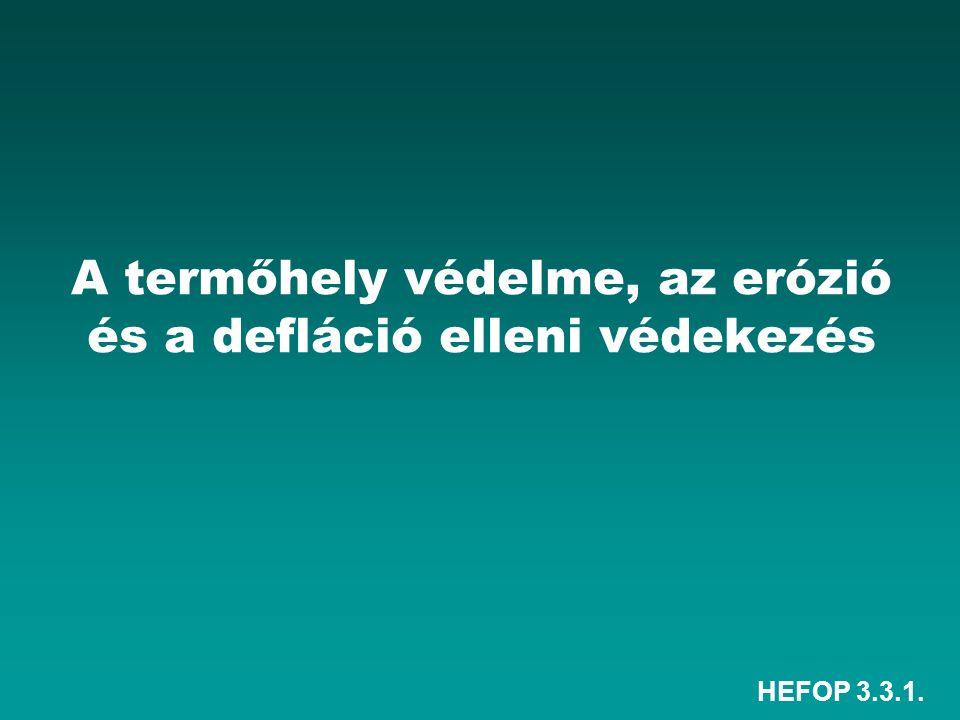 HEFOP 3.3.1. A termőhely védelme, az erózió és a defláció elleni védekezés
