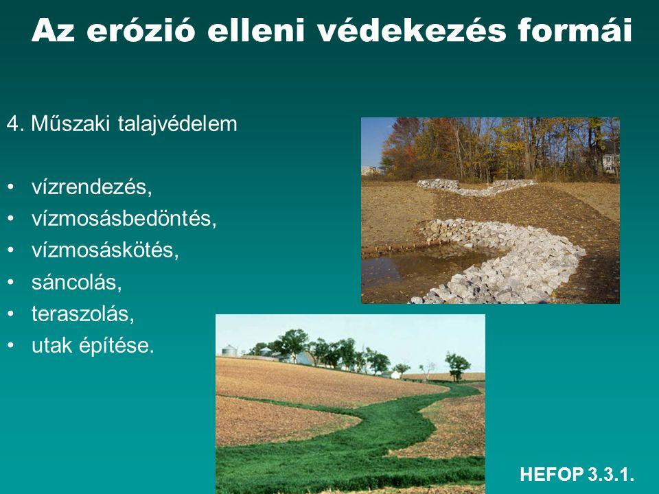 HEFOP 3.3.1. Az erózió elleni védekezés formái 4.