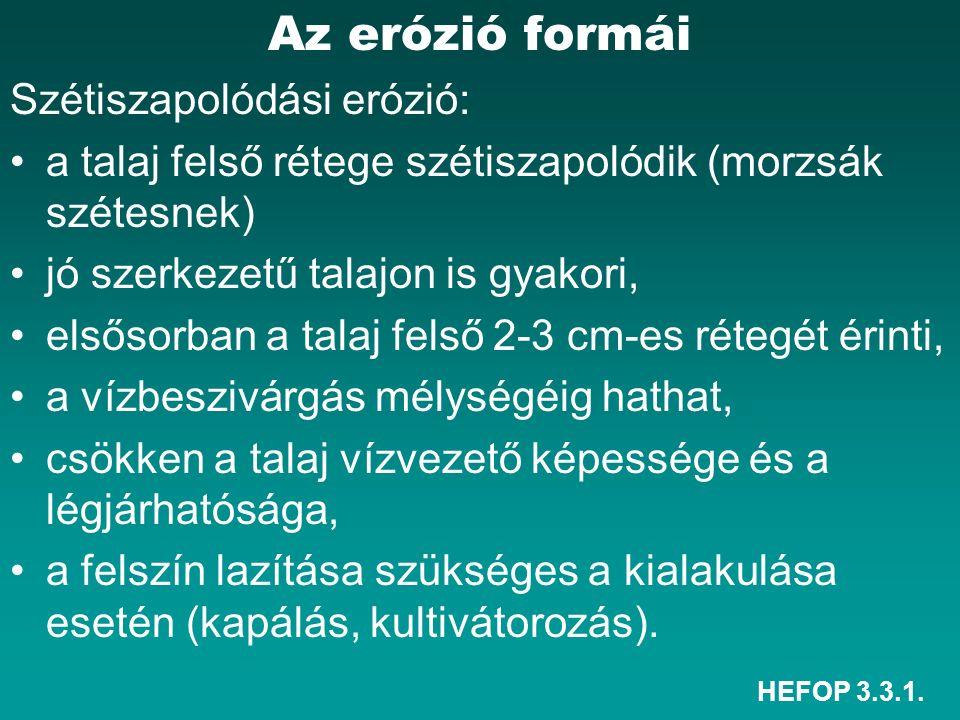 HEFOP 3.3.1.Az erózió elleni védekezés formái 7. Talajvédő termesztéstechnológia C.