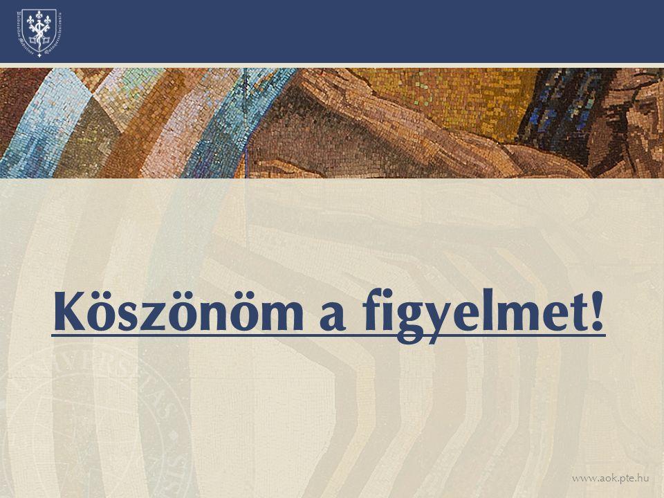 www.aok.pte.hu Köszönöm a figyelmet!