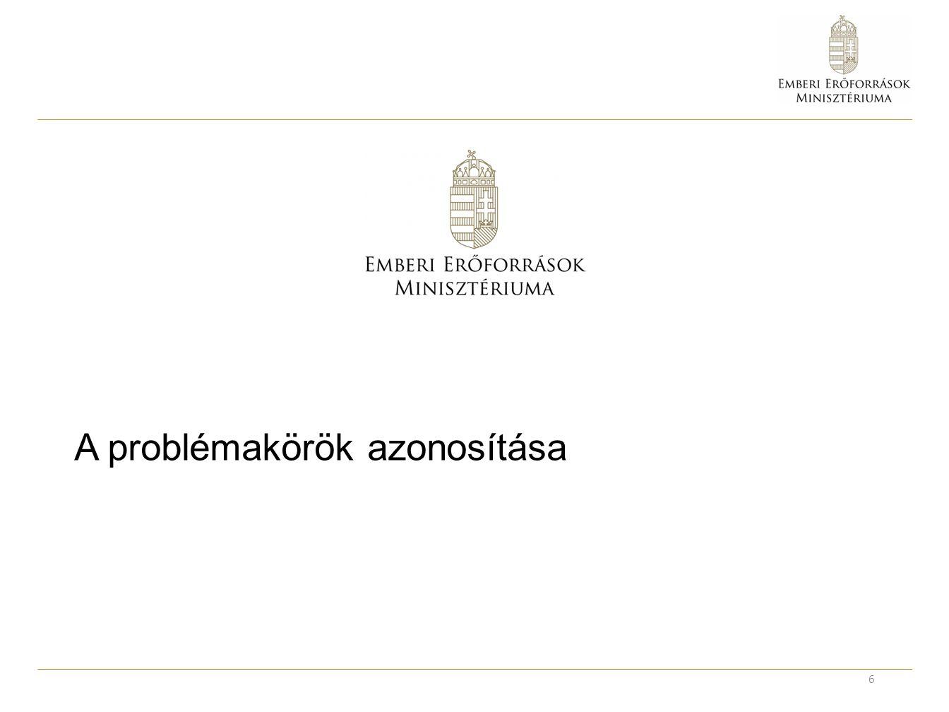 A Kerekasztal által vizsgált problémák forrásai 7 2000 iskola megkérdezéséből 4500 visszajelzés Köznevelési Kerekasztal PSZ 25 pontja PDSZ 12 pontja Egyéb szervezetek javaslatai (CKP, stb.)