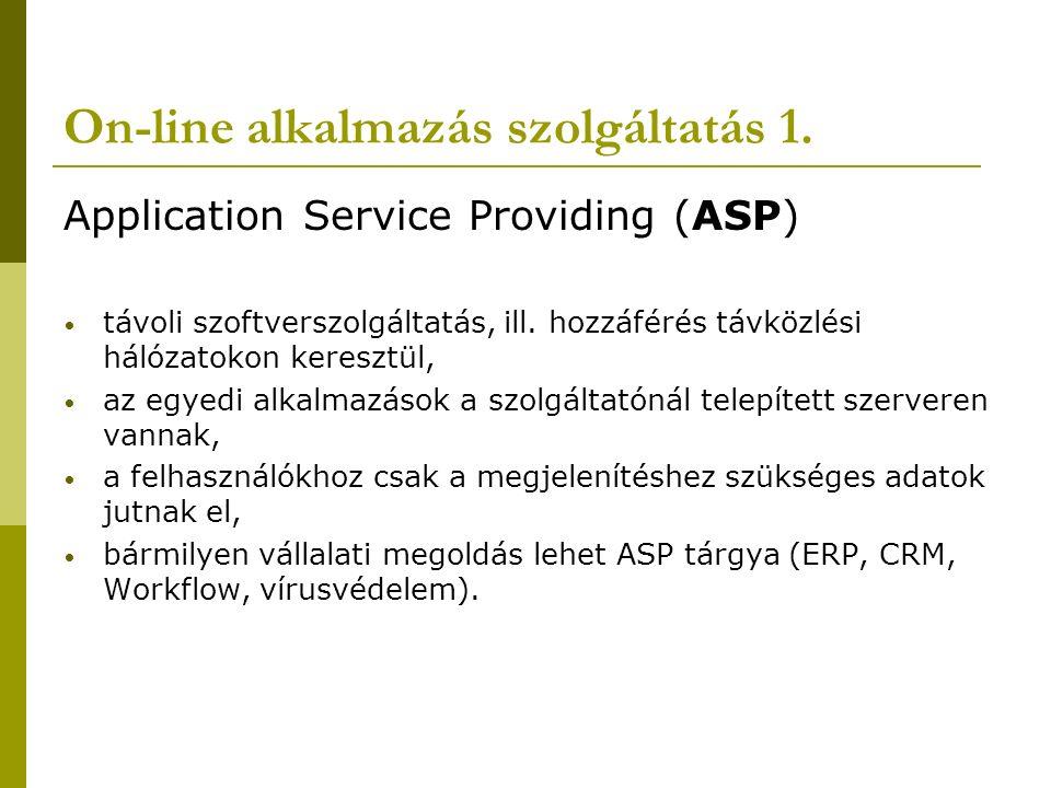 On-line alkalmazás szolgáltatás 1.