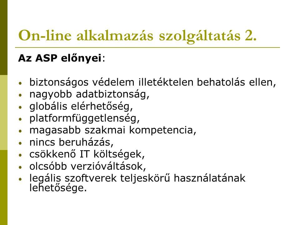 On-line alkalmazás szolgáltatás 2.