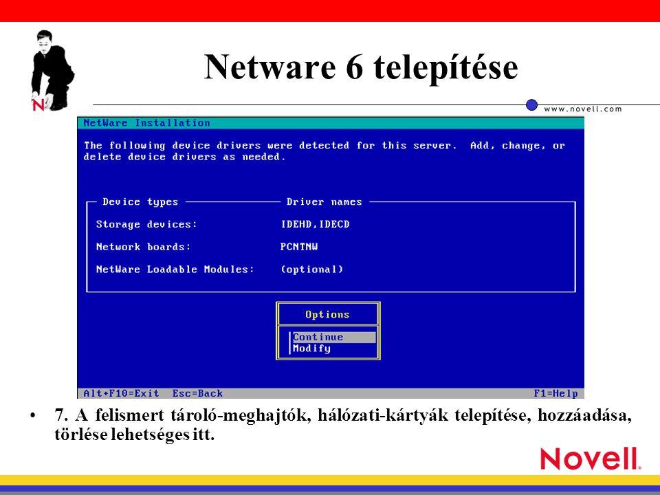 Netware 6 telepítése 7.