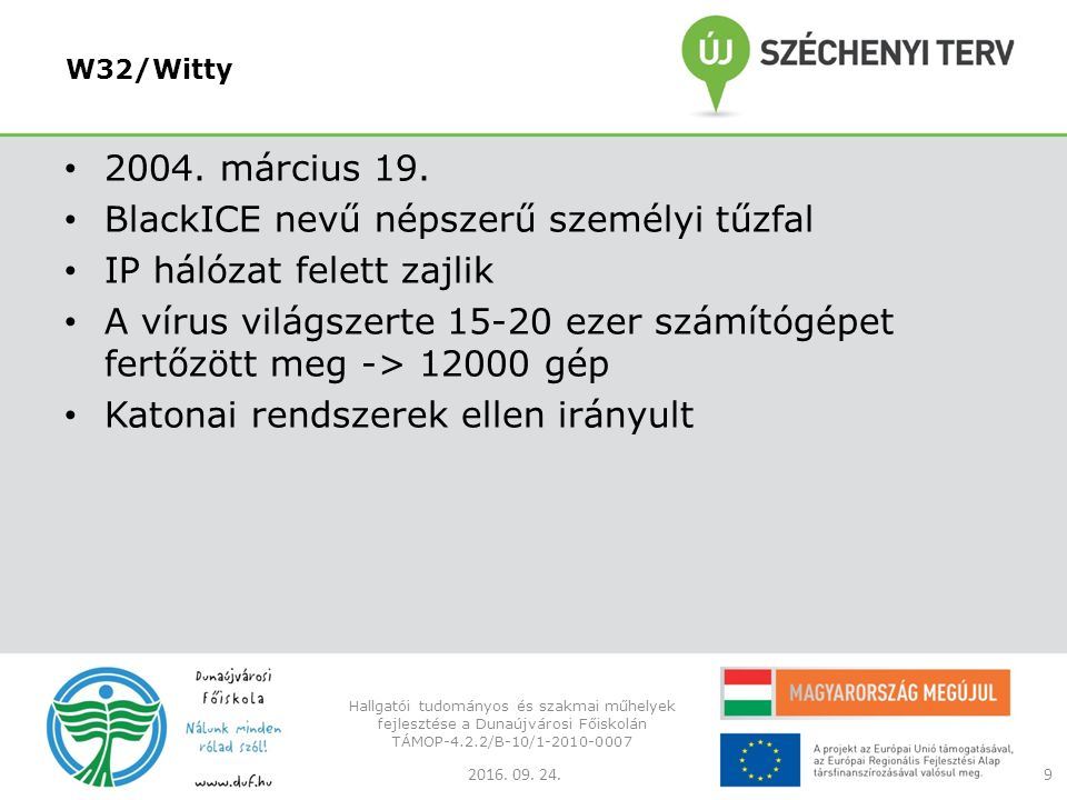 W32/Witty 2004. március 19.