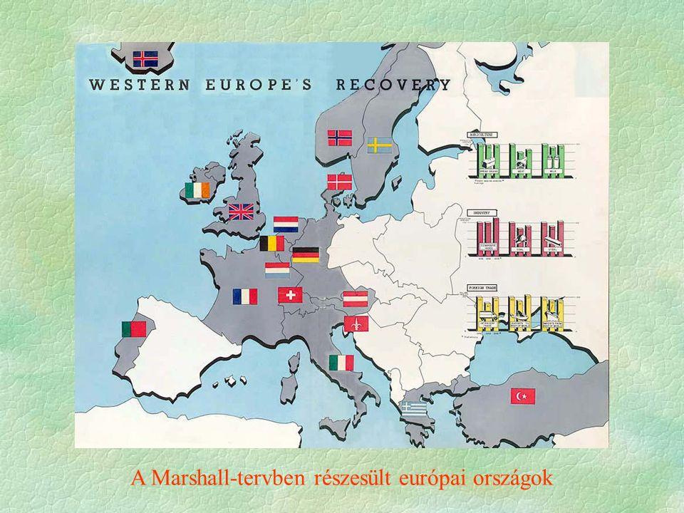 A Marshall-tervben részesült európai országok