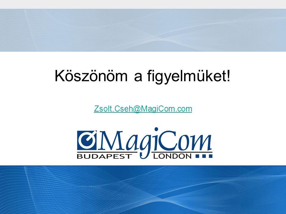 Köszönöm a figyelmüket! Zsolt.Cseh@MagiCom.com Zsolt.Cseh@MagiCom.com