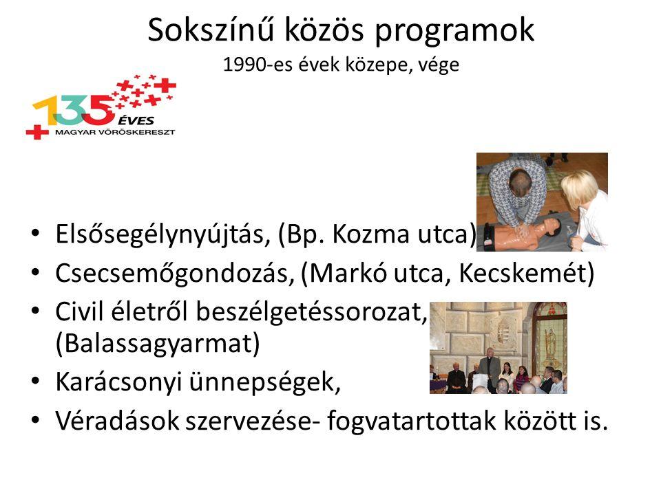 Sokszínű közös programok 1990-es évek közepe, vége Elsősegélynyújtás, (Bp.