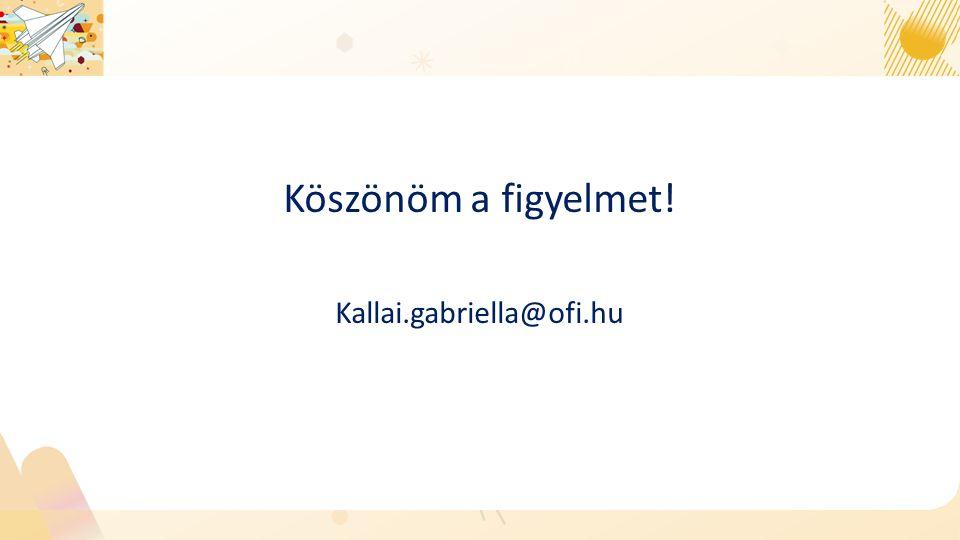 Köszönöm a figyelmet! Kallai.gabriella@ofi.hu