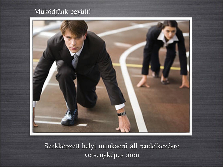 Szakképzett helyi munkaerő áll rendelkezésre versenyképes áron Működjünk együtt!