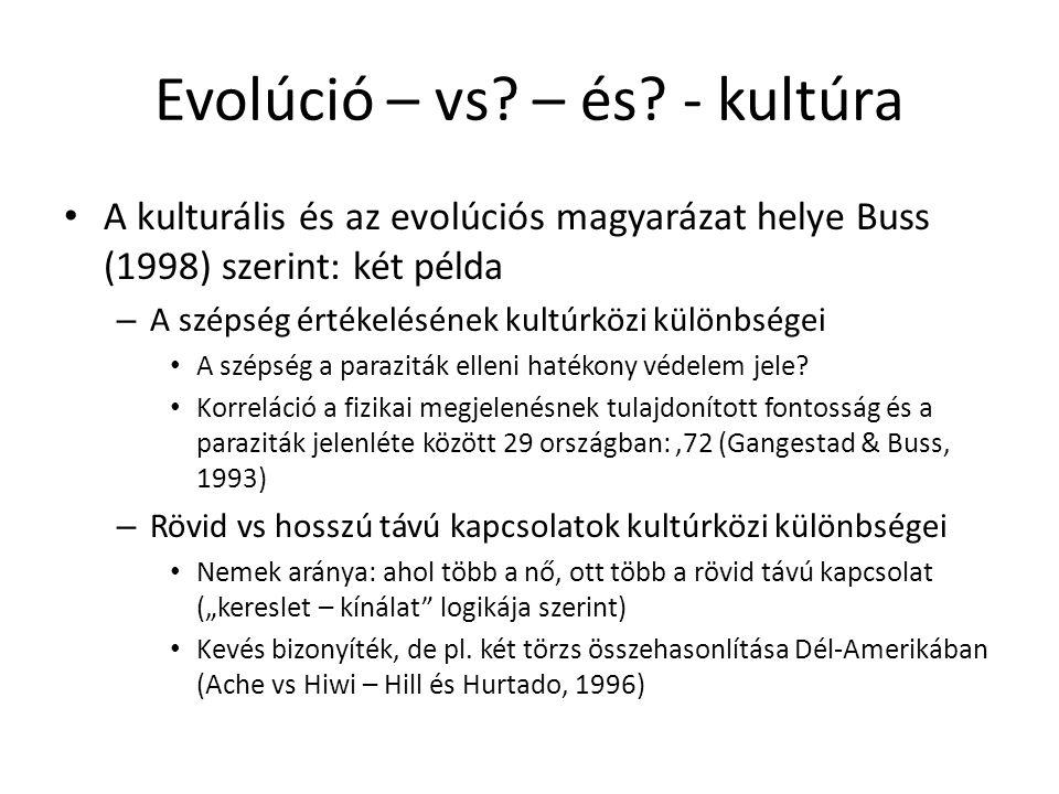 Evolúció – vs. – és.