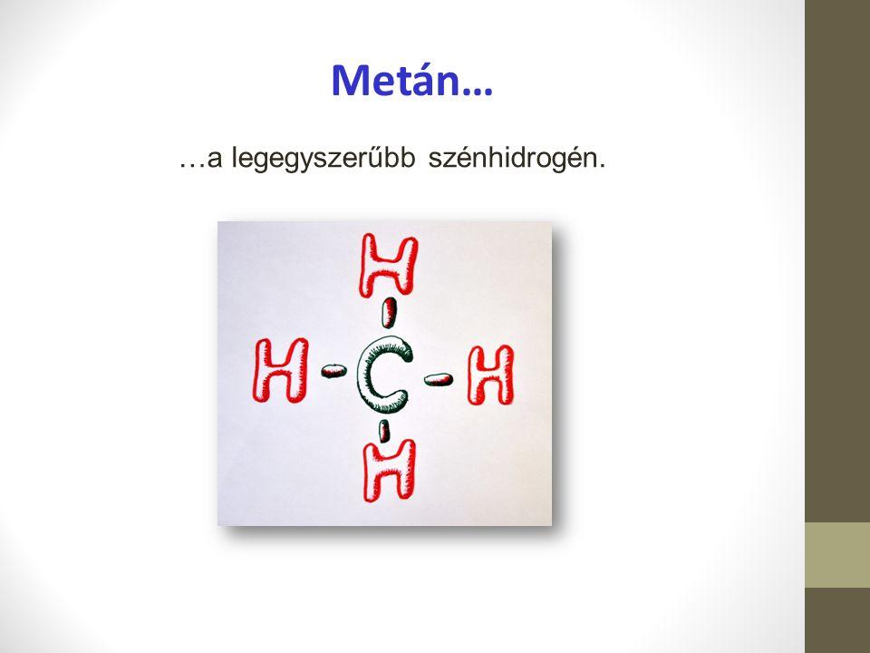 Metán… …a legegyszerűbb szénhidrogén.