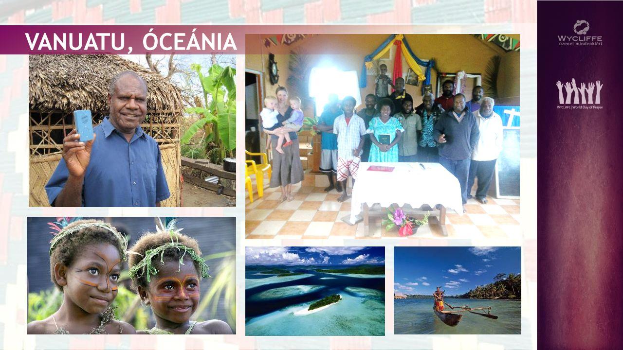 Vanuatu egy 83 szigetből álló ország a Csendes-óceánban, több mint 100 kisebb-nagyobb nyelvvel.