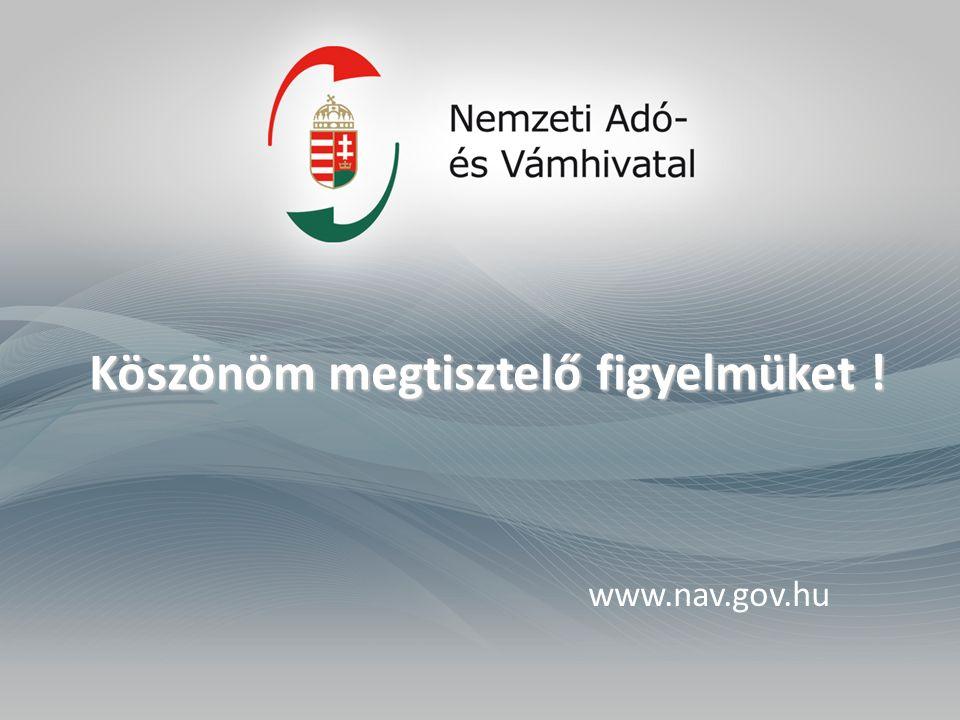 Köszönöm megtisztelő figyelmüket ! www.nav.gov.hu