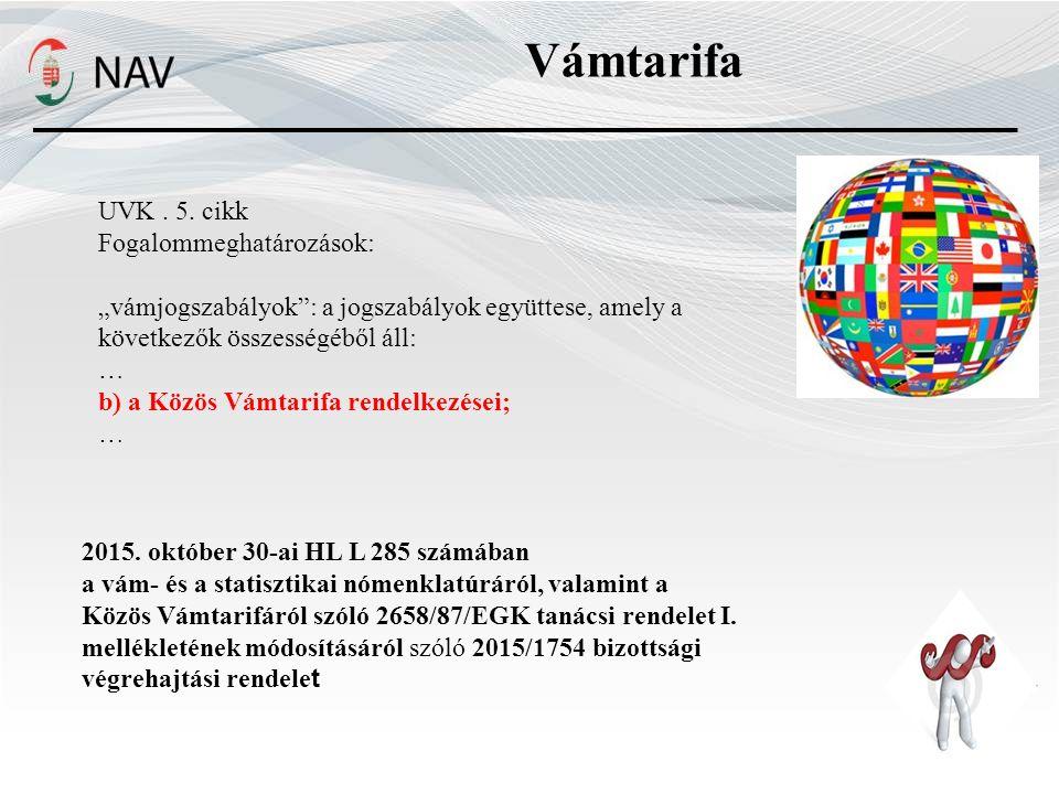 Vámtarifa UVK.5.
