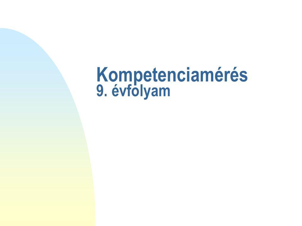 Kompetenciamérés 9. évfolyam