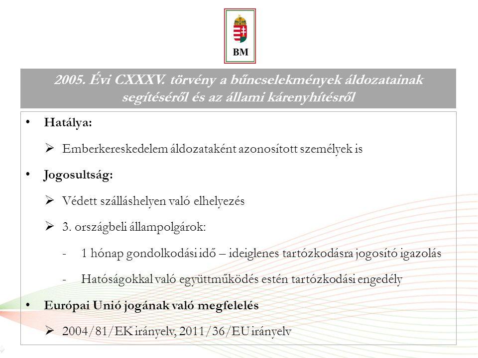 Együttműködés jelentősége 2011 / 36 / EU irányelv  18.