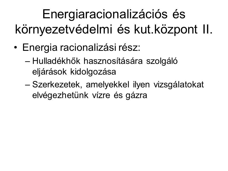 Energiaracionalizációs és környezetvédelmi és kut.központ II.