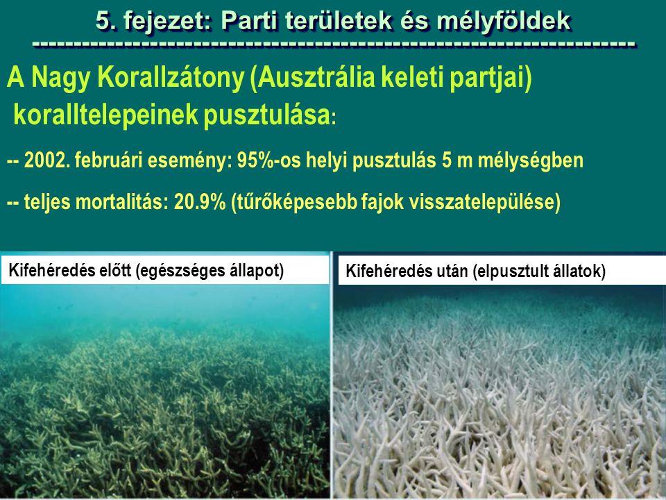 A Nagy Korallzátony (Ausztrália keleti partjai) koralltelepeinek pusztulása : -- 2002.