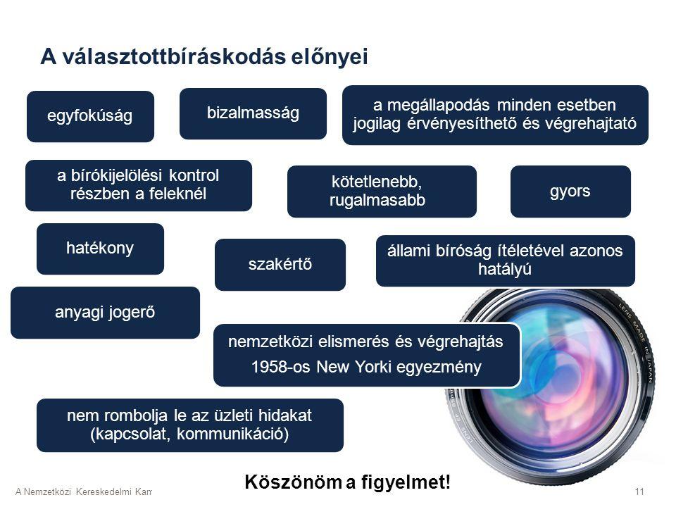 A Nemzetközi Kereskedelmi Kamara (ICC) Magyar Tagozata; | 2016. május 24.11 a bírókijelölési kontrol részben a feleknél bizalmassággyors kötetlenebb,
