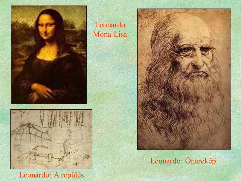 Leonardo Mona Lisa Leonardo: A repülés Leonardo: Önarckép