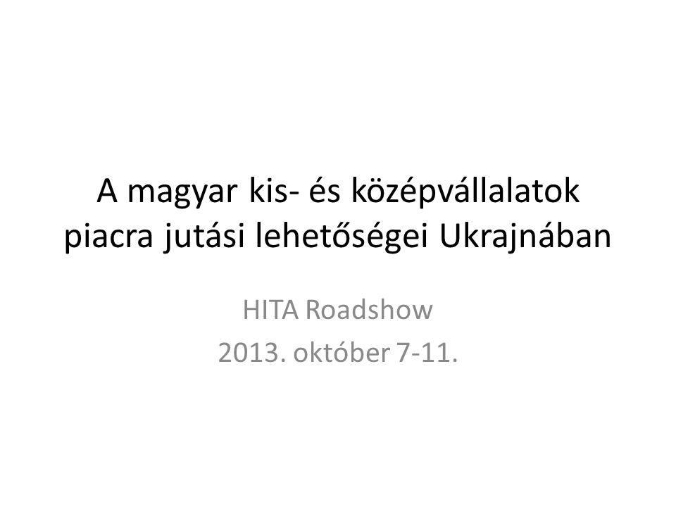 A magyar kis- és középvállalatok piacra jutási lehetőségei Ukrajnában HITA Roadshow 2013.