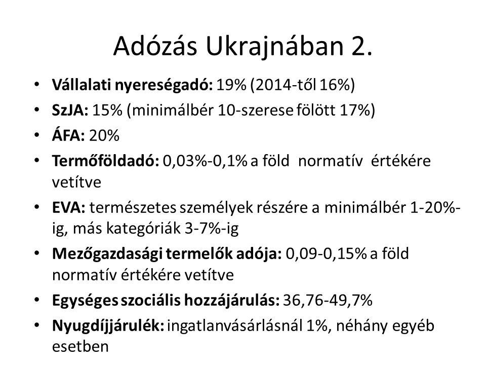 Adózás Ukrajnában 2.