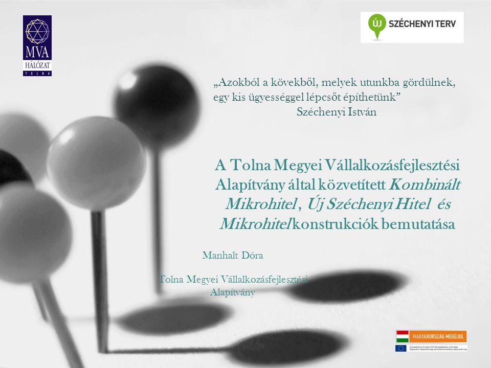 A Tolna Megyei Vállalkozásfejlesztési Alapítvány által közvetített Kombinált Mikrohitel, Új Széchenyi Hitel és Mikrohitel konstrukciók bemutatása Manh