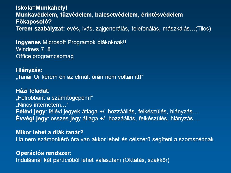 Office programcsomag