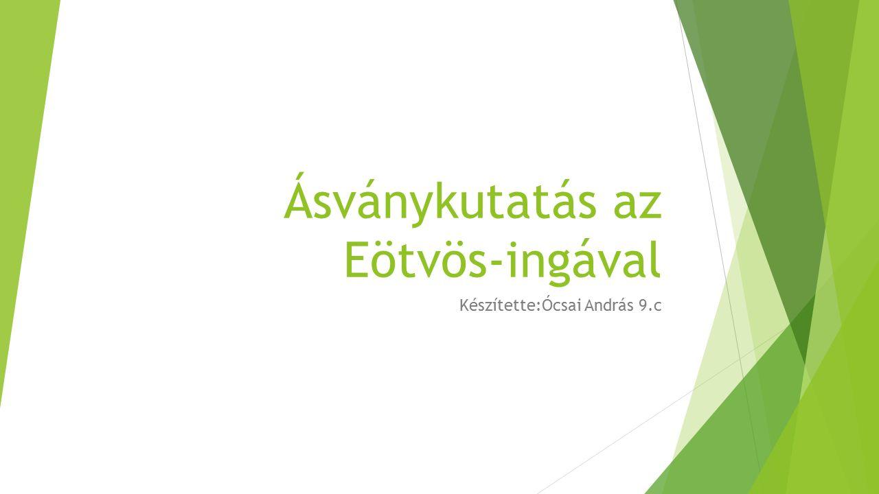 Ásványkutatás az Eötvös-ingával Készítette:Ócsai András 9.c