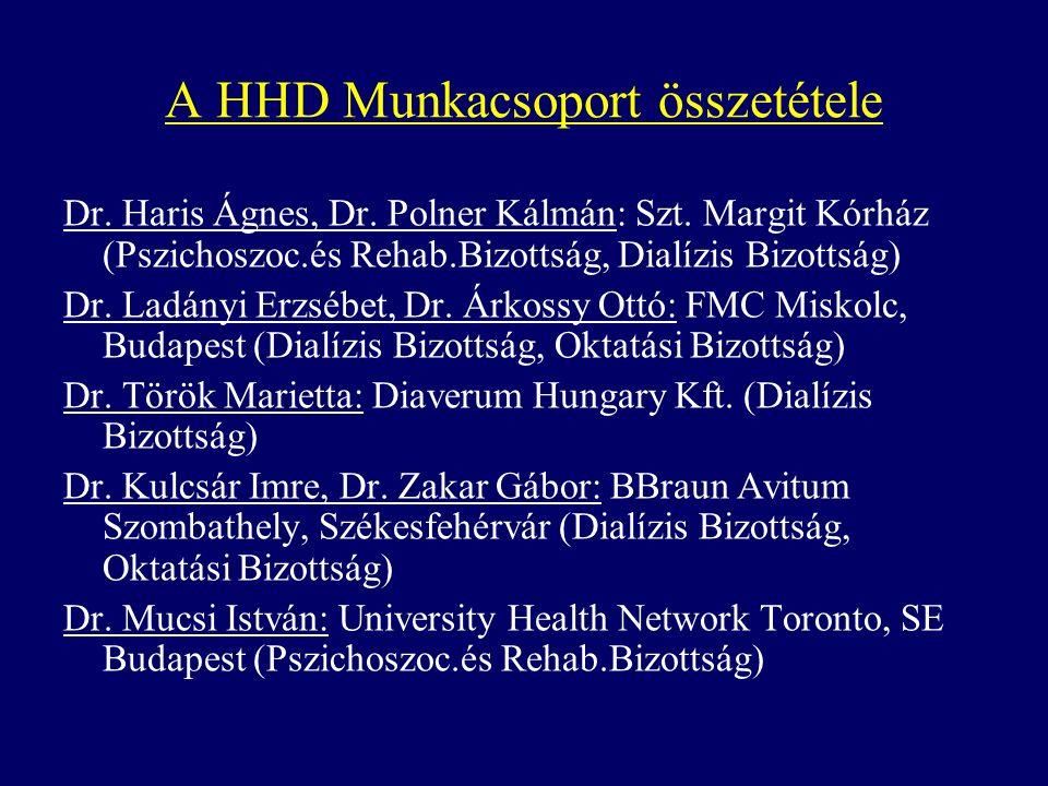 A HHD Munkacsoport összetétele Dr. Haris Ágnes, Dr.