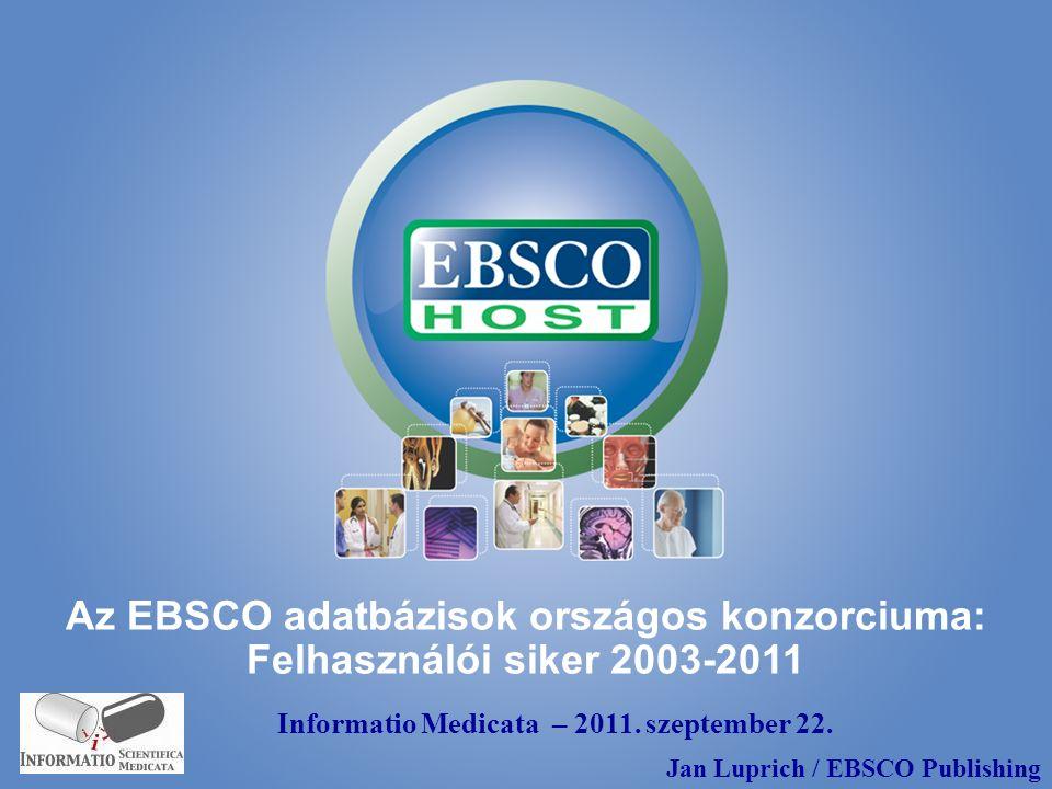 Az EBSCO adatbázisok országos konzorciuma: Felhasználói siker 2003-2011 Informatio Medicata – 2011.