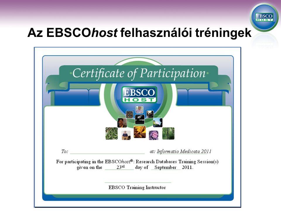 Az EBSCOhost felhasználói tréningek