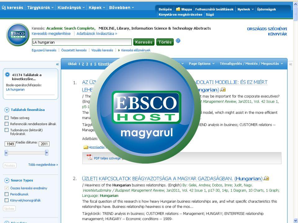Az EBSCOhost támogatja elsőként az előfizetett források mobil hozzáférését EBSCO Discovery Service Mobile