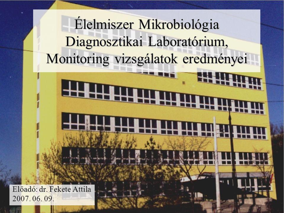 Élelmiszer Mikrobiológia Diagnosztikai Laboratórium, Monitoring vizsgálatok eredményei Előadó: dr.