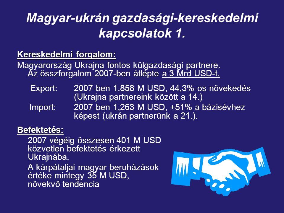 Magyar-ukrán gazdasági-kereskedelmi kapcsolatok 1.