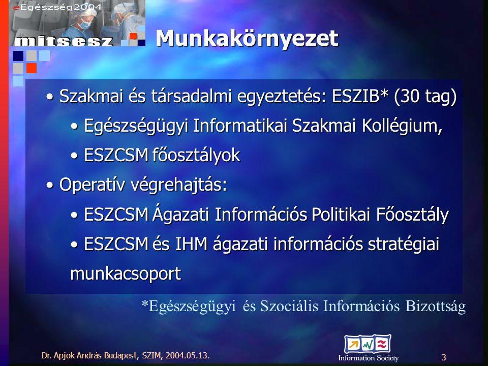 Dr. Apjok András Budapest, SZIM, 2004.05.13.