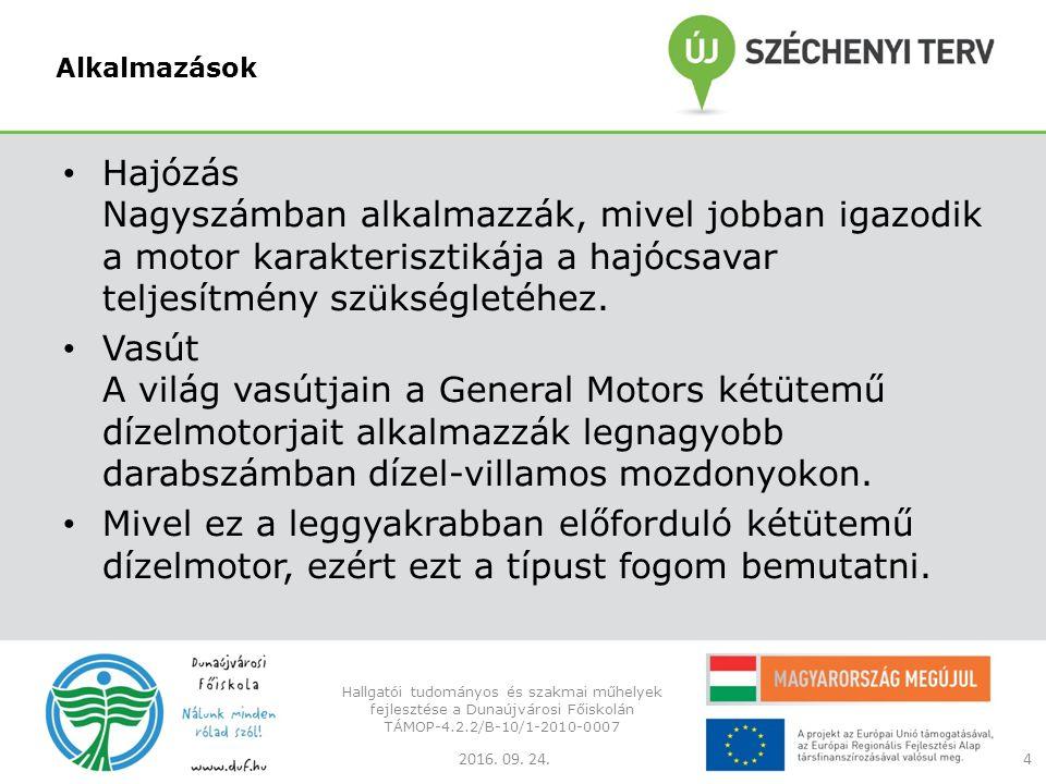 Fogyasztás összehasonlítása Autó benzinmotorjának effektív tüzelőanyag fogyasztása 300~380 g/kWh Autó dízelmotorjának effektív tüzelőanyag fogyasztása 250~320 g/kWh Kétütemű d ízelmozdony effektív tüzelőanyag fogyasztása 190~240 g/kWh 2016.