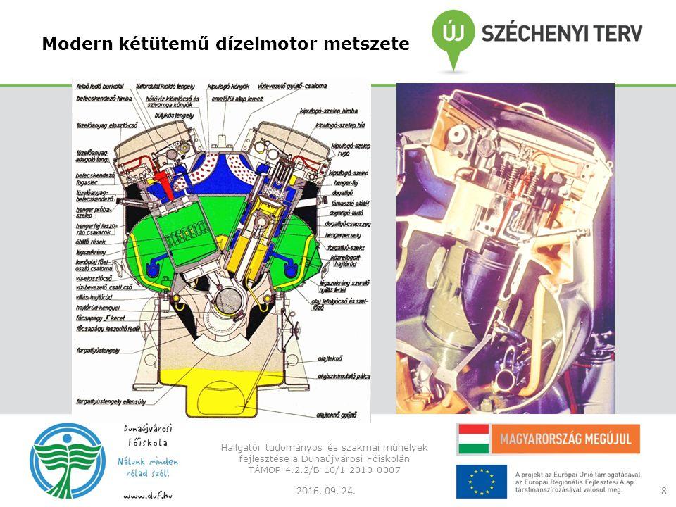 Modern kétütemű dízelmotor metszete 2016. 09. 24.
