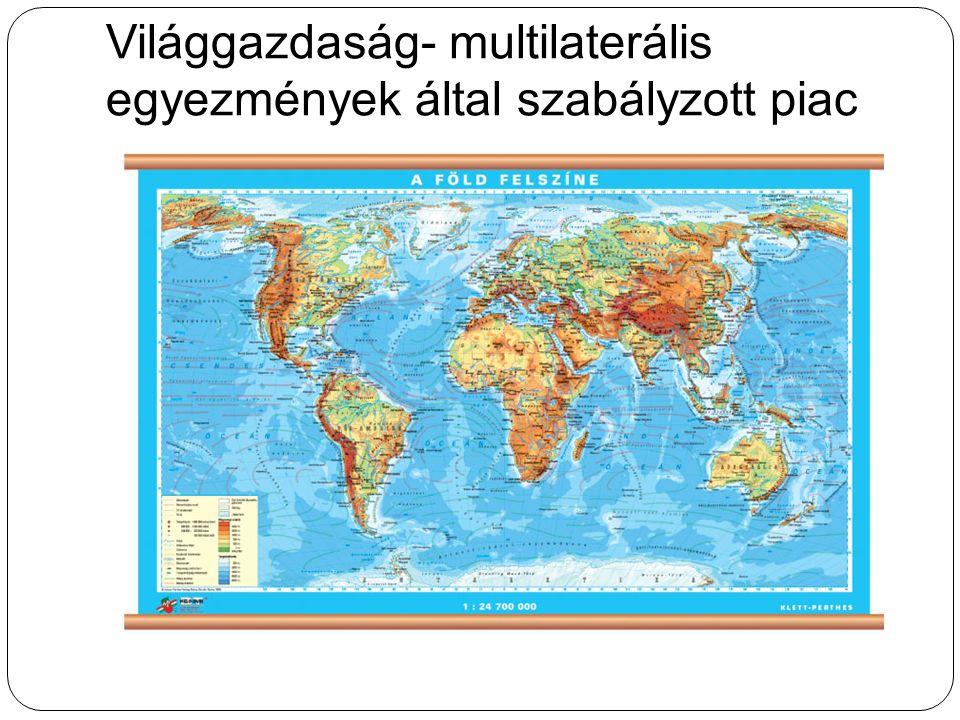 Világgazdaság- multilaterális egyezmények által szabályzott piac