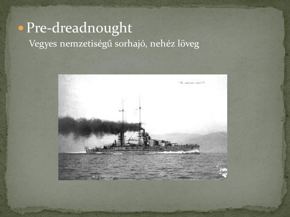 Pre-dreadnought Vegyes nemzetiségű sorhajó, nehéz löveg