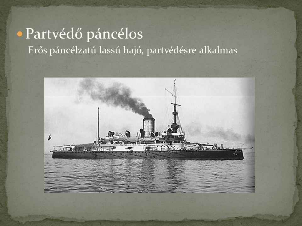 Partvédő páncélos Erős páncélzatú lassú hajó, partvédésre alkalmas