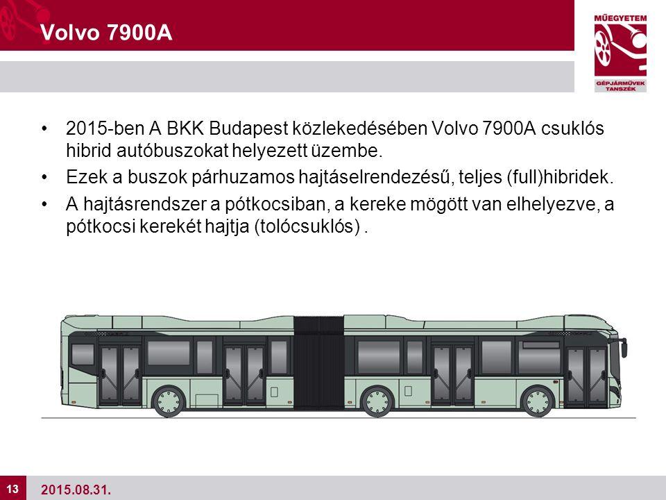 13 Volvo 7900A 2015-ben A BKK Budapest közlekedésében Volvo 7900A csuklós hibrid autóbuszokat helyezett üzembe.