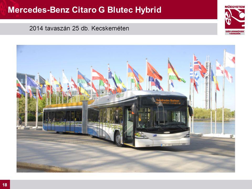 18 Mercedes-Benz Citaro G Blutec Hybrid 2014 tavaszán 25 db. Kecskeméten