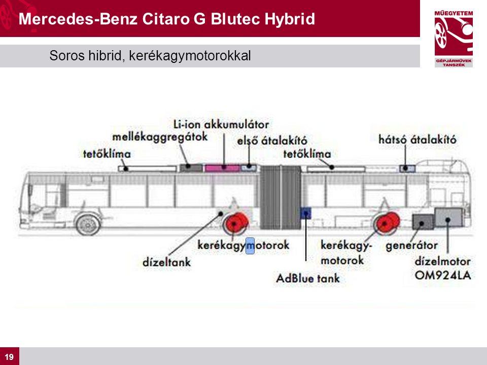 19 Soros hibrid, kerékagymotorokkal Mercedes-Benz Citaro G Blutec Hybrid