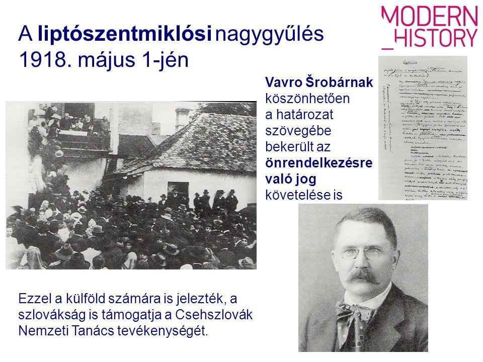 Ezzel a külföld számára is jelezték, a szlovákság is támogatja a Csehszlovák Nemzeti Tanács tevékenységét.
