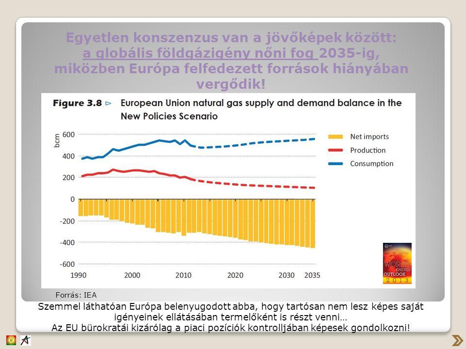 Egyetlen konszenzus van a jövőképek között: a globális földgázigény nőni fog 2035-ig, miközben Európa felfedezett források hiányában vergődik! Forrás:
