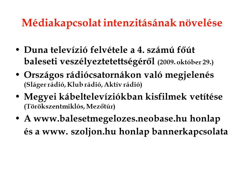 Médiakapcsolat intenzitásának növelése Duna televízió felvétele a 4.
