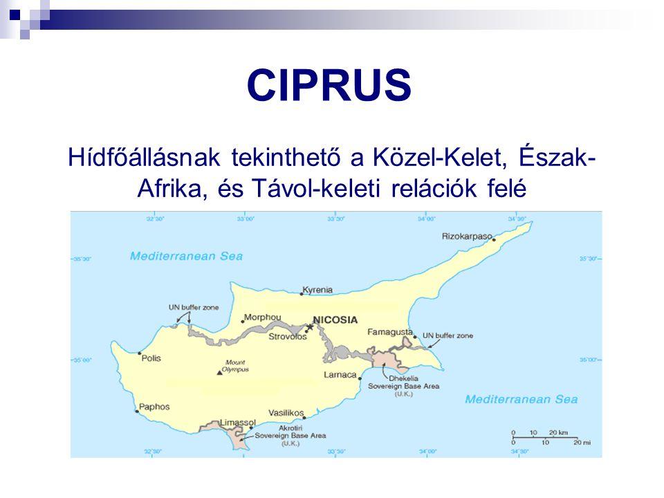 CIPRUS Hídfőállásnak tekinthető a Közel-Kelet, Észak- Afrika, és Távol-keleti relációk felé